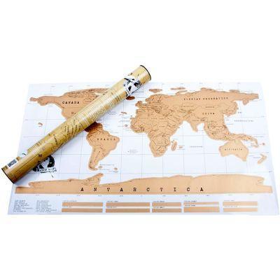 Скрэтч карта мира - подарок для путешественника