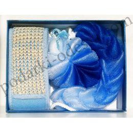 Банный комплект синий