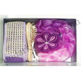 Банный набор фиолетовый