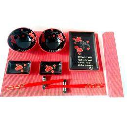 Набор для суши на 11 предметов красный
