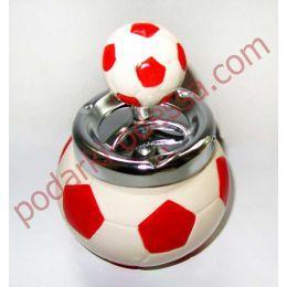 Подарок парню - пепельница футбольный мяч, бездымная