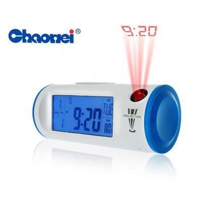Часы-будильник с проекцией времени и термометром