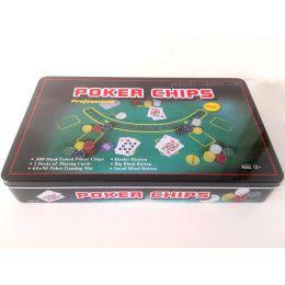 Набор для игры в покер на 300 фишек + полотно Blackjack