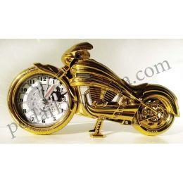 Часы золотой мотоцикл