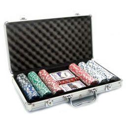 Покерный набор в кейсе на 300 фишек