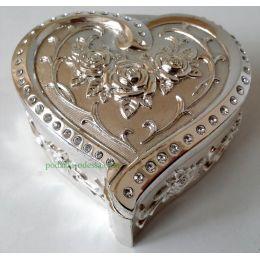 Шкатулка Сердце мельхиор