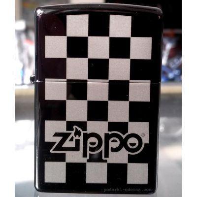Зажигалка Zippo 324678 Checkerboard Black Ice