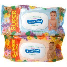 Влажные салфетки детские Superfresh 120 шт