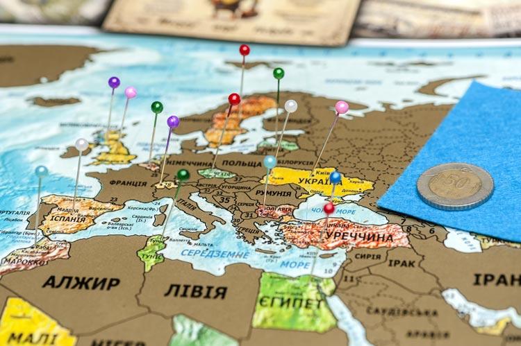 скретч карта мира купить