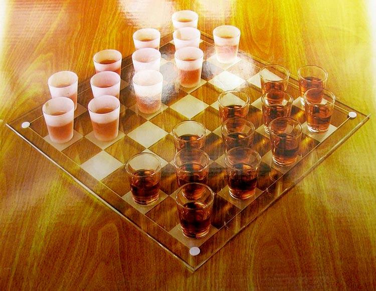 Пьяные шашки (алкошашки)