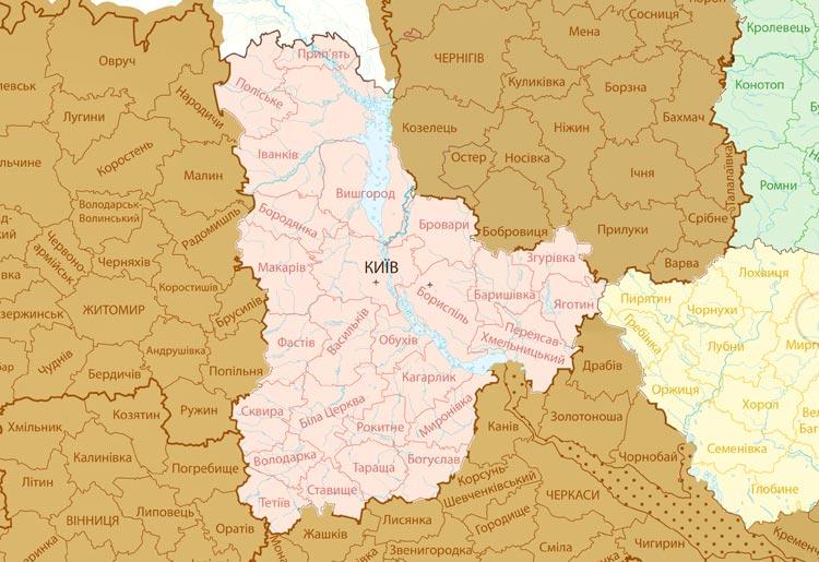 Скрэтч карта Украины