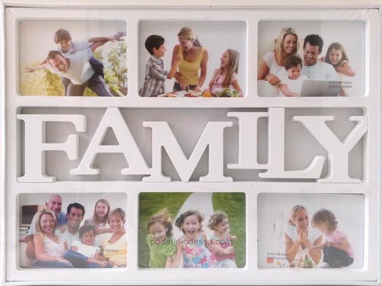 Рамка для фотоколлажей на 6 фото Family