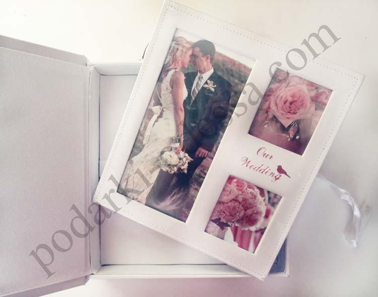 Подарочный свадебный альбом-чемодан