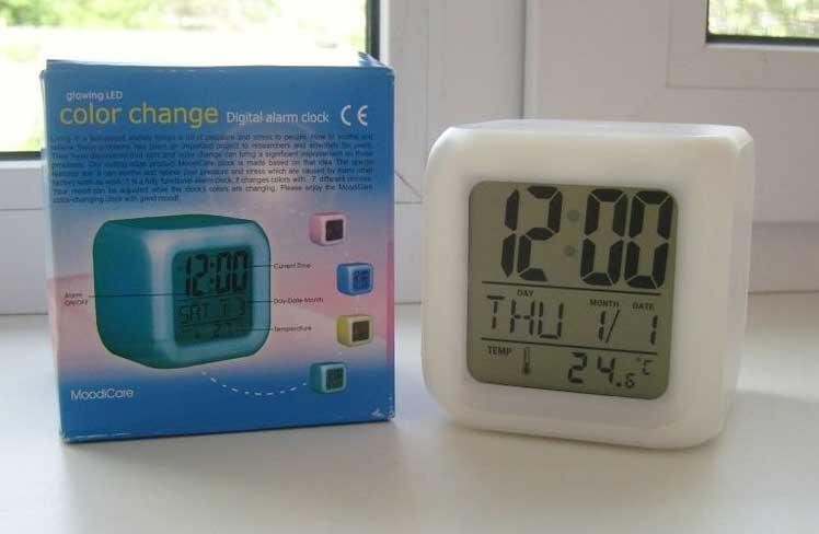 Купить часы будильник хамелеон с термометром в Одессе