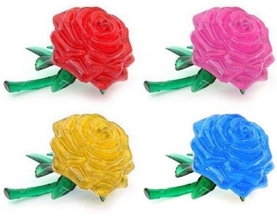 пазл роза