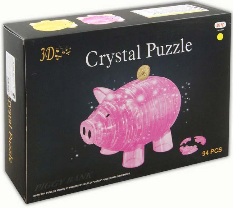 3D пазл-копилка Свинка