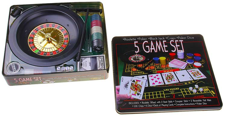 Набор из 5 игр - покер, кости, рулетка, блэкджек, покер с кубиками