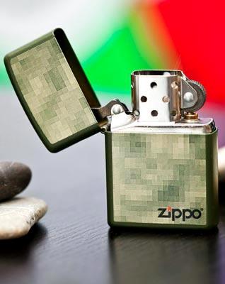 Зажигалка Zippo 28036 DIGITAL GREEN